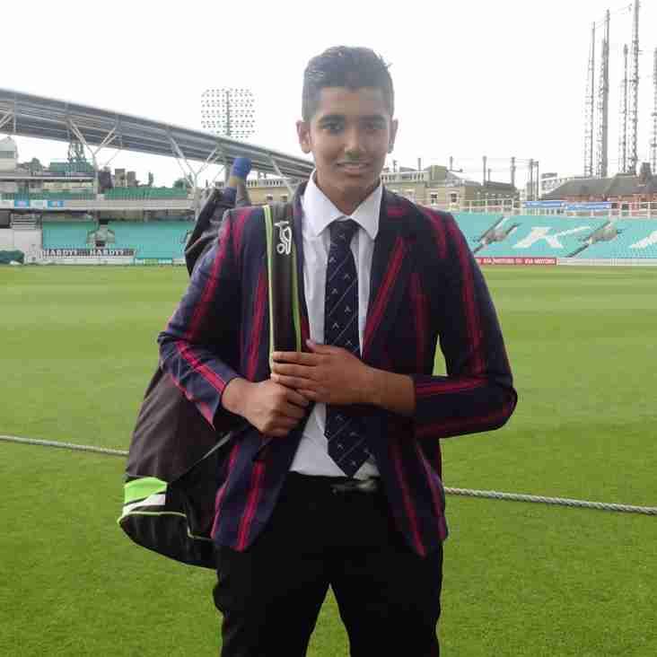 RCC U15 skipper Sami Shori hits 86 runs at the Oval