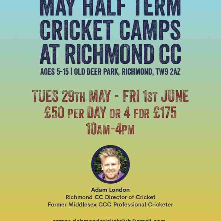 May half term RCC camps - book now!