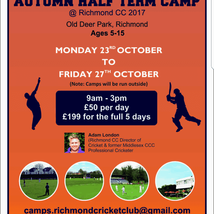 Cricket Camps during October Half Term