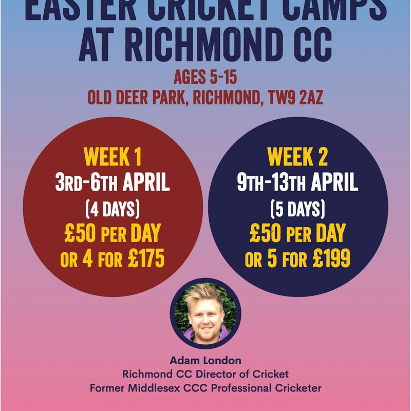 Bookings now being taken for the Easter Camps
