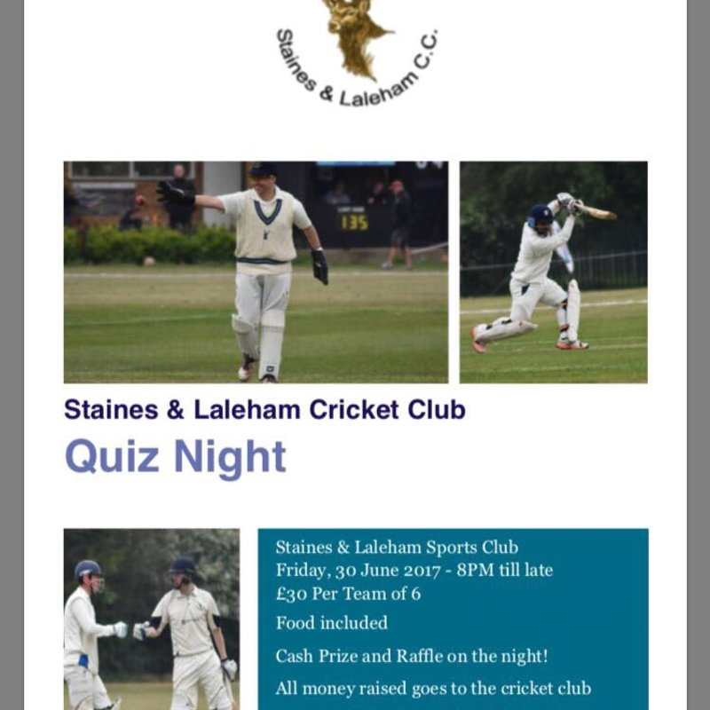 Staines & Laleham Cricket Club Quiz night
