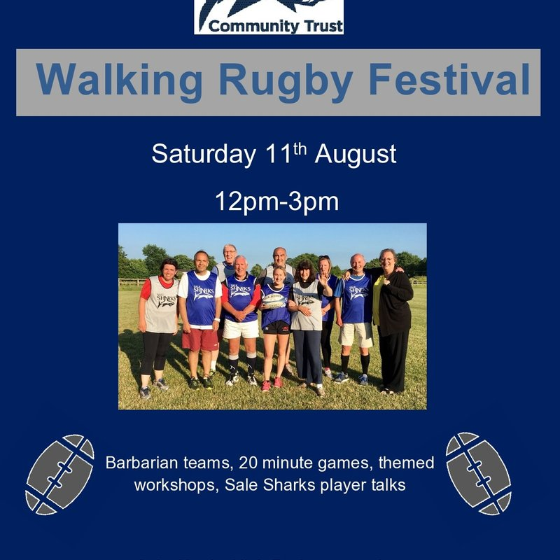 Walking Rugby Festival - Saturday 11th August