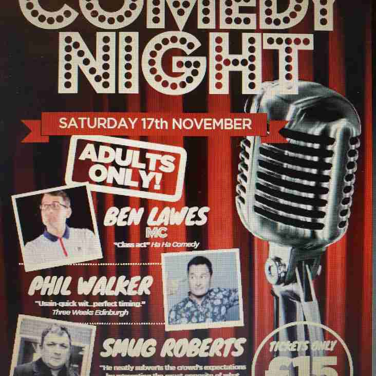 Tickets still available for Comedy night on 17th November