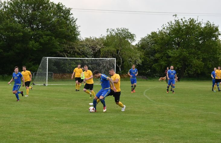 Action from Cancer Cup Final