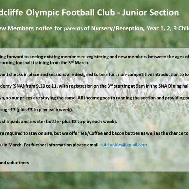 Junior Section News