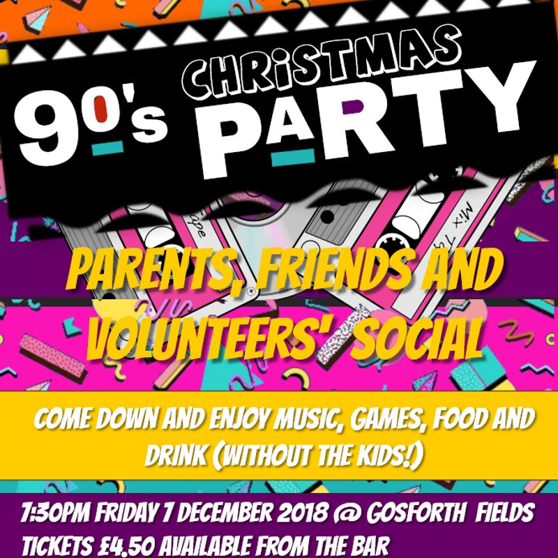 A very 90s Christmas party - parents, friends and club volunteers' social
