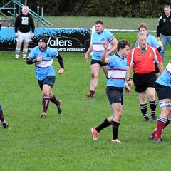 Wilmslow 16 v Stockport 13, Wet Windy Win for 2s at The Memorial Ground 4/11/17