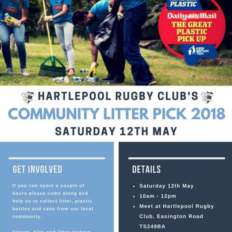 The Great Plastic Pick Up - Saturday 12th May
