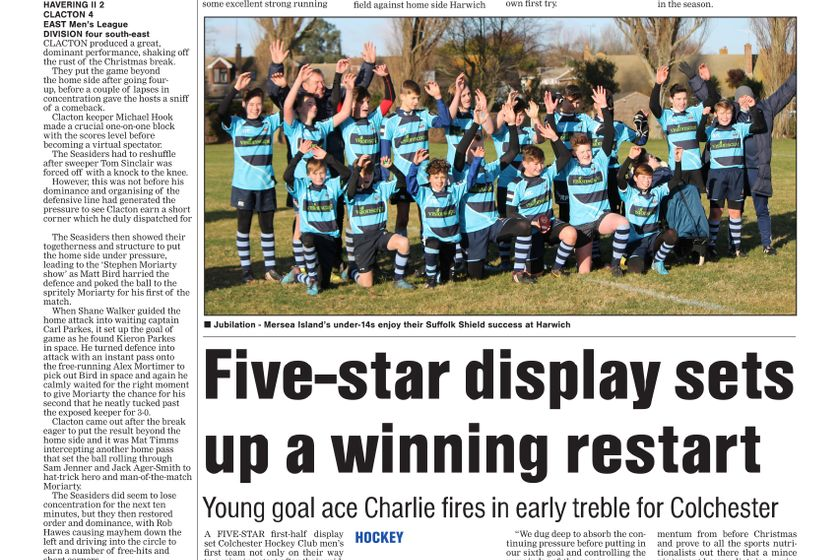 Colchester Gazette 10th January 2018