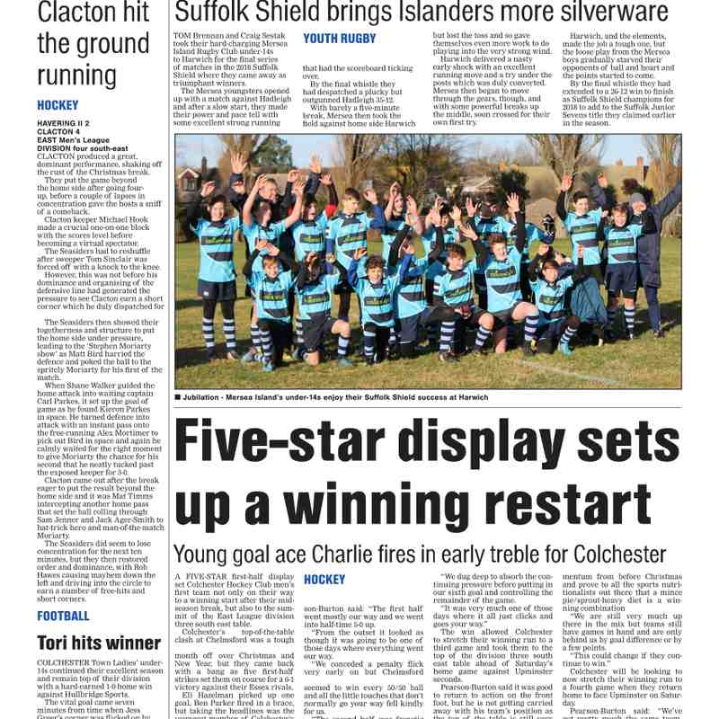 Colchester Gazette 10th January 2018