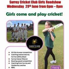 Surrey Cricket Club - Girls Roadshow @ Camberley CC 29th June