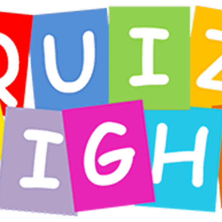 Quiz Night Saturday 30th September