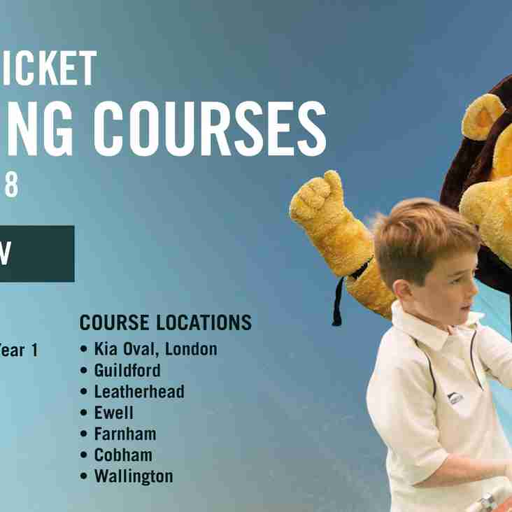 Surrey Cricket Foundation - Autumn Training Courses 2018
