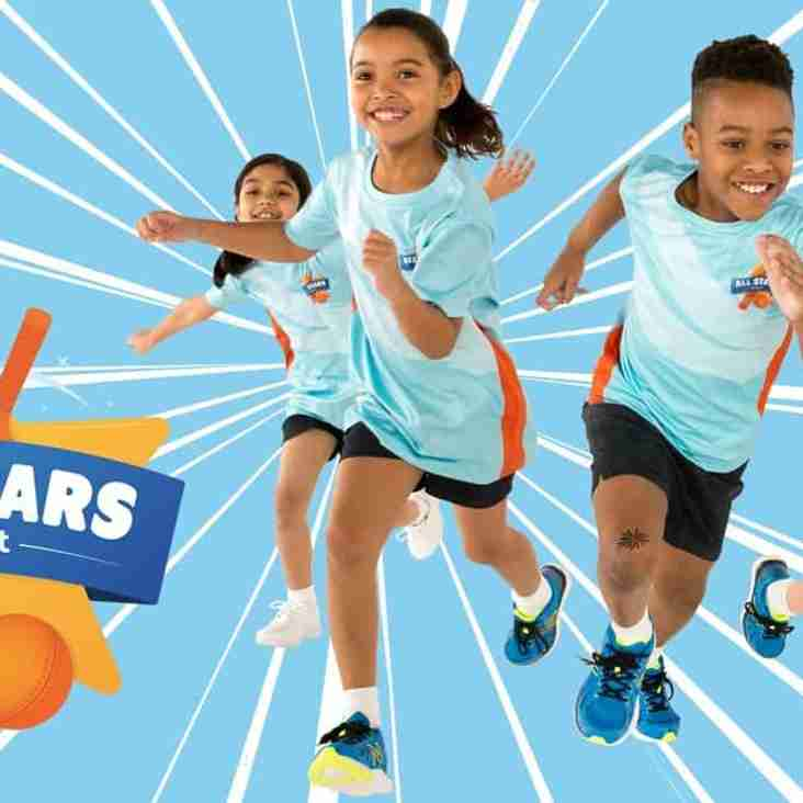 Juniors and All Stars -  Aged 5 to 9 years Training over the Winter Half Term