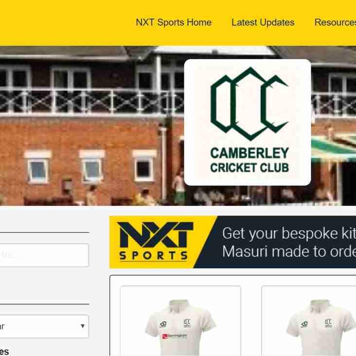 Camberley Cricket Club - Club Shop NOW OPEN