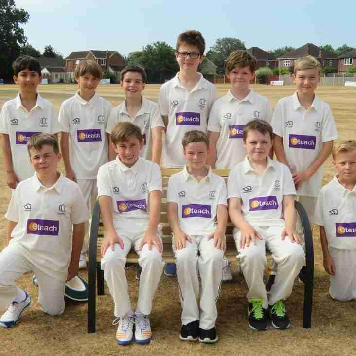 Camberley Cricket Club U11 Team - Sponsored by eTeach