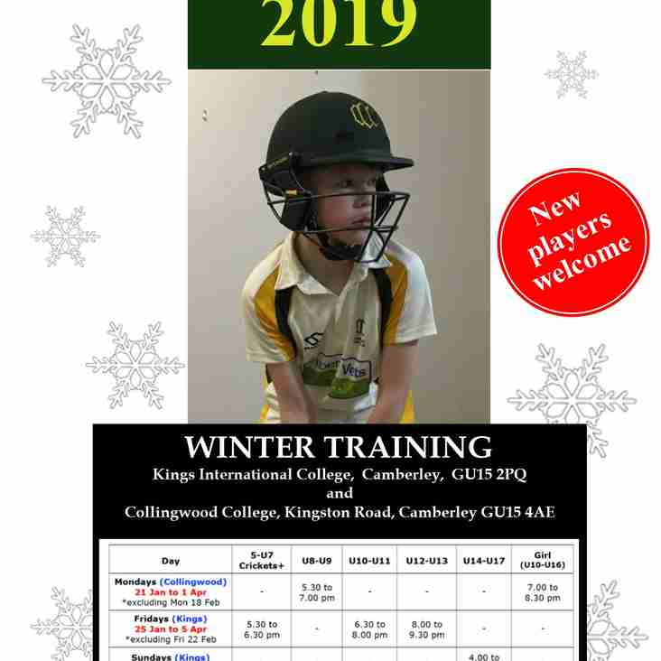 Junior Winter Training 2019 - Information