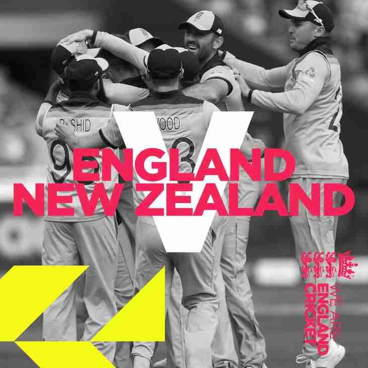England vs New Zealand CWC19 FINAL Sunday 14th July - LIVE at the Club
