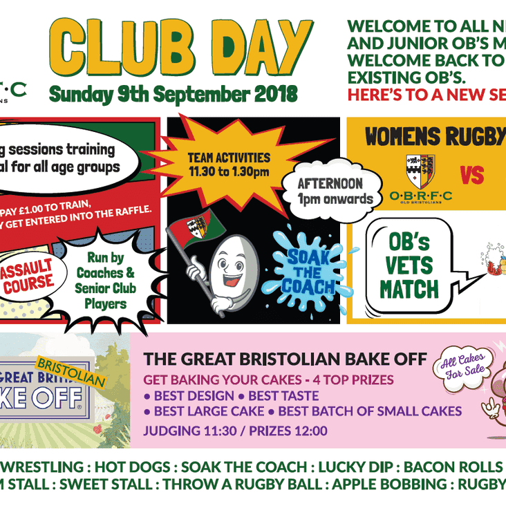 Club Day - 9th September