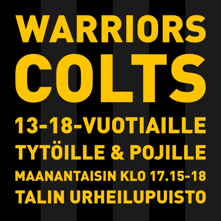 Warriors starts youth rugby for 13-18 years old girls and boys