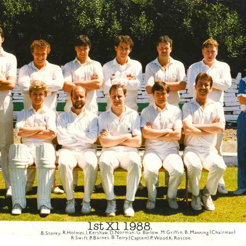 Rawtenstall Cricket Club in the 80s