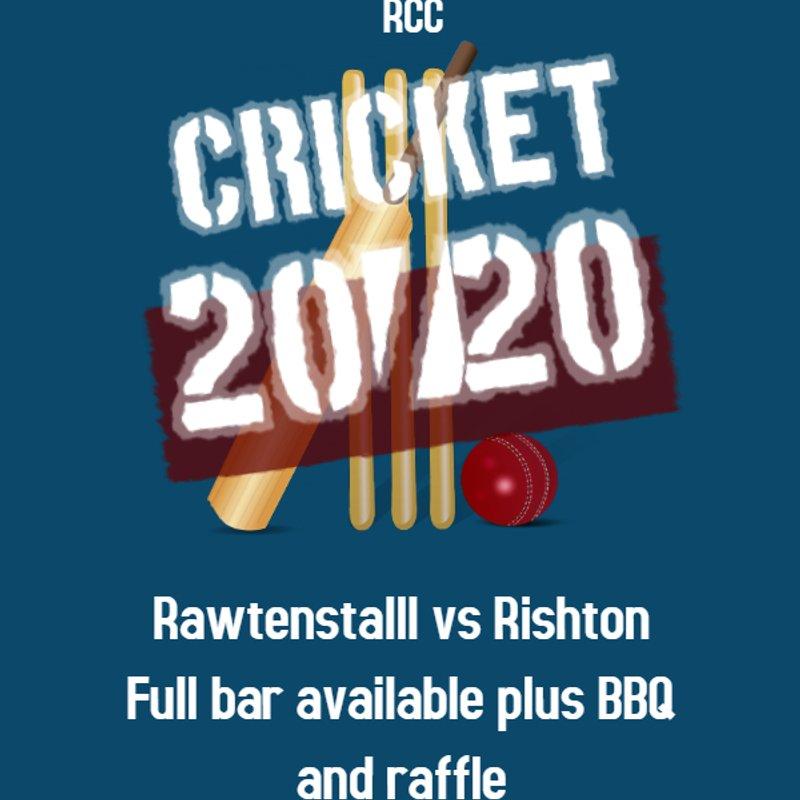 20/20 Cricket at RCC this Friday