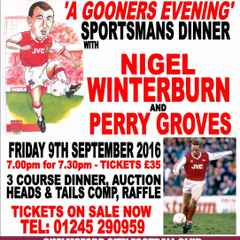 A 'Gooners Evening' Confirmed for Next Sportsman's Dinner