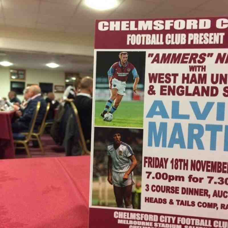 Sportsman's Evening - 'Ammers Night with Alvin Martin