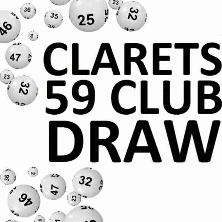 Are You This Week's Clarets 59 Club Draw Winner?