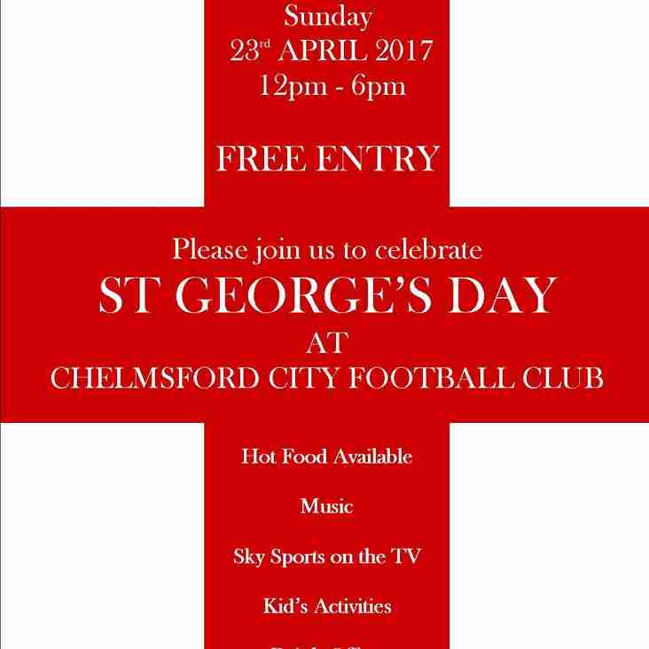 Celebrate St George's Day at the Clarets Bar