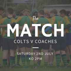 THE MATCH Colts v Coaches