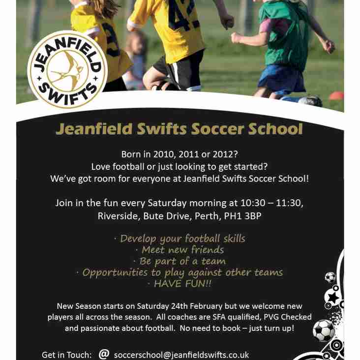 Soccer School returns this Saturday