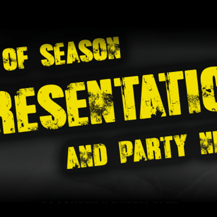 Presentation Night Confirmed for Junior Section<