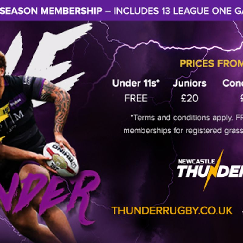 Newcastle Thunder Season Tickets Out Now