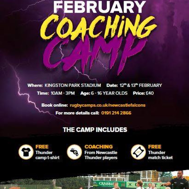 Have you signed up to our Thunder coaching camp