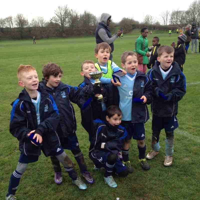 Under 8s Autumn League Trophy Winners.