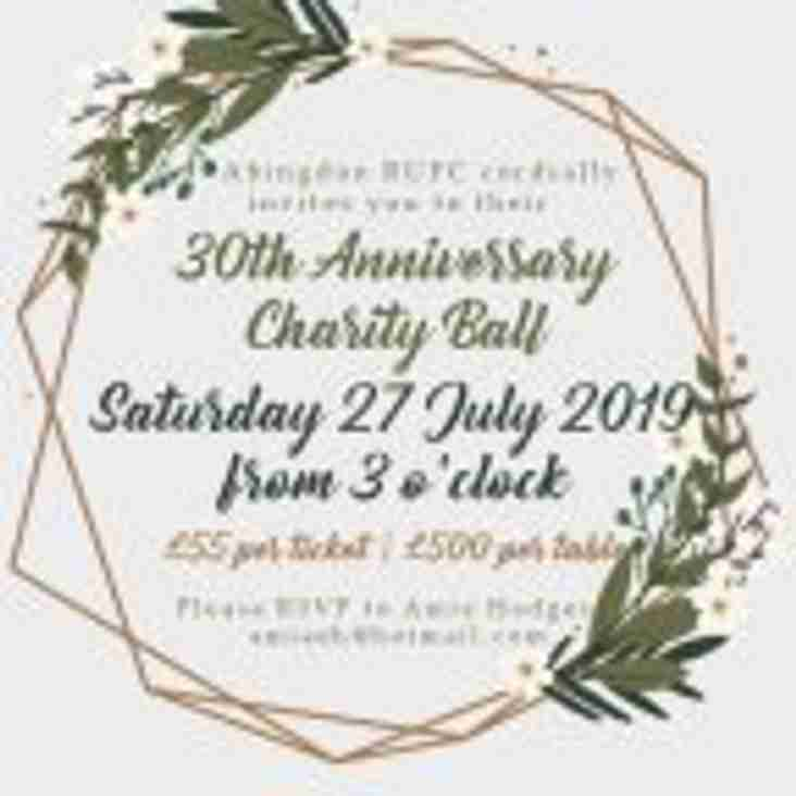 Anniversary Ball Saturday 27th July