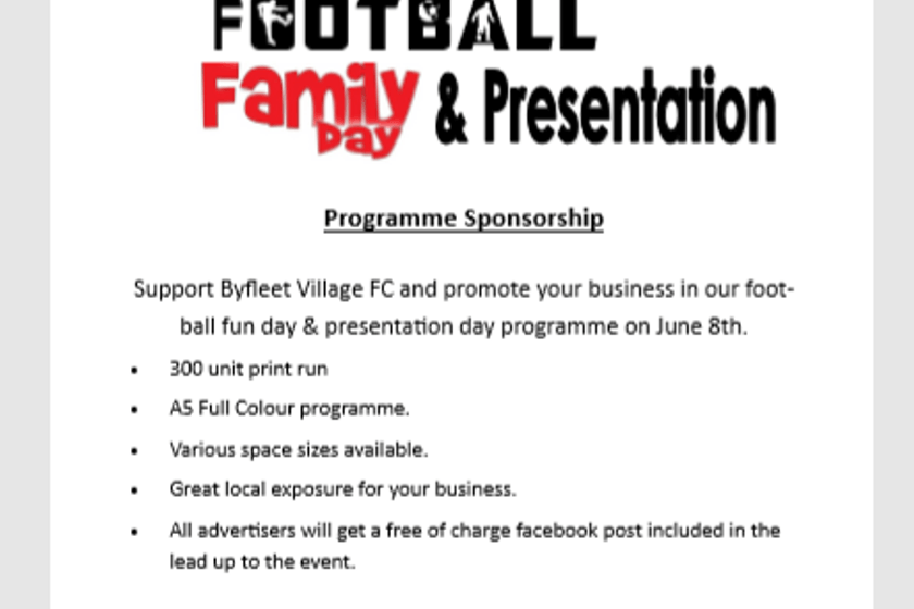 PRESENTATION DAY - 8TH JUNE  - CHARITY MATCH