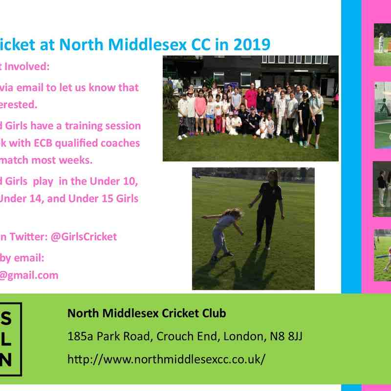 2019 Girls Cricket
