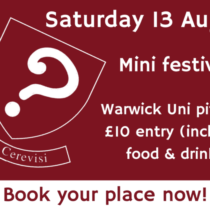 Saturday 13 August mini festival – get your place booked!