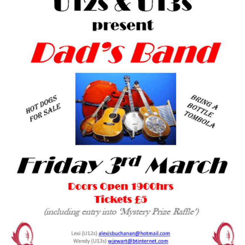 U12s & U13s Dad Band - 03/03/17 @ 19:00