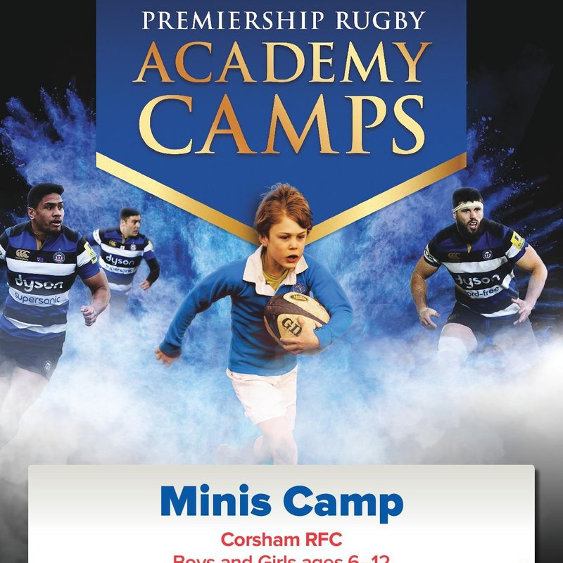 Bath Rugby Camp for Mini's
