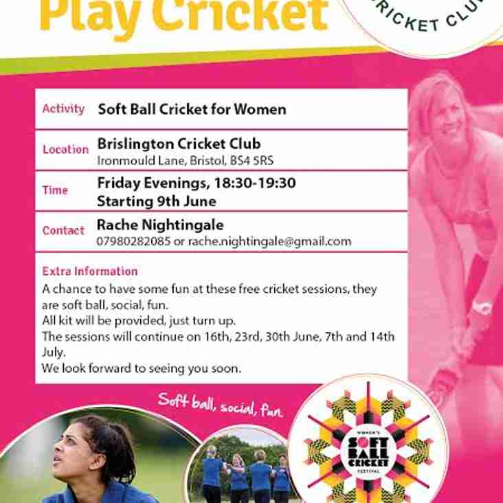 Womens Softball Training Starting 9th June 630pm!