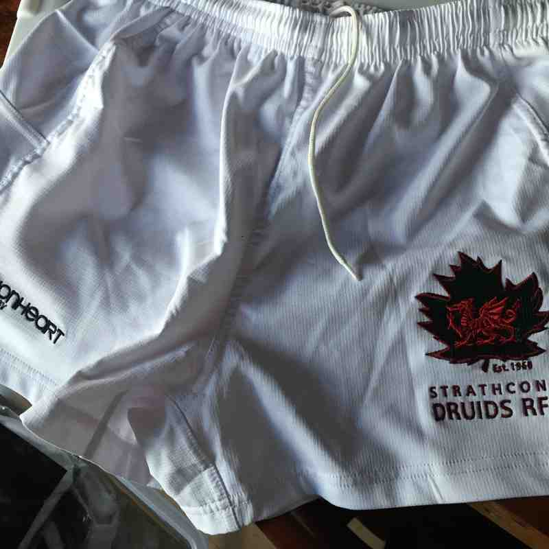 Druids White Shorts - Competition