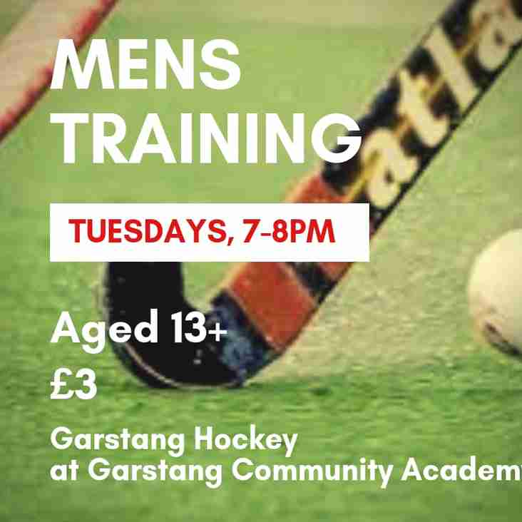 Mens Training - Session moved back an hour