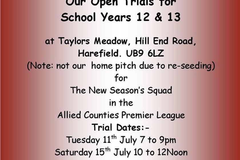 U18s PLAYERS WANTED