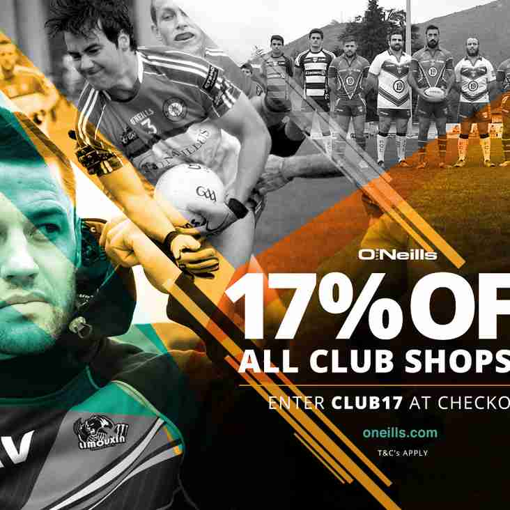 17% DISCOUNT ON O'NEILLS KIT