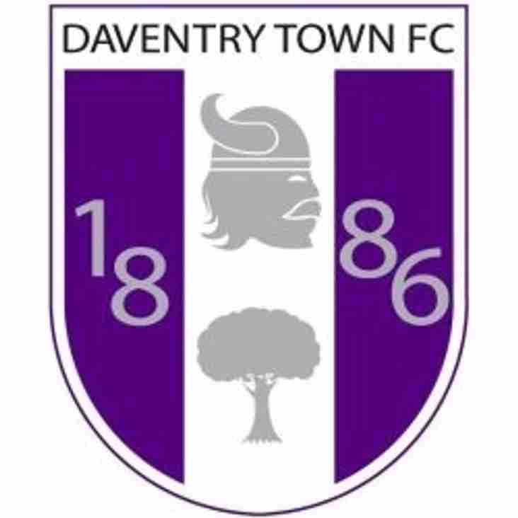 Daventry Town trip tomorrow night.