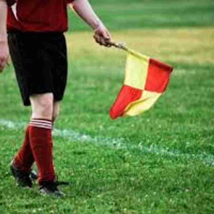 Club linesman required for the Reserves.
