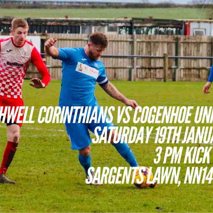 Cooks head to Rothwell tomorrow.